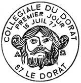 Oblitération 1er jour à Le Dorat le 16 juillet 1977