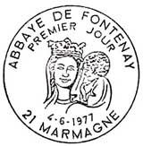 Oblitération 1er jour à Marmagne le 4 juin 1977