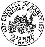 Oblitération 1er jour à Nancy le 25 juin 1977