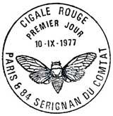 Oblitération 1er jour à Paris et Serignan le 10 septembre 1977