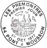 Oblitération 1er jour à Pont-à-Mousson le 1 octobre 1977
