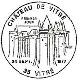 Oblitération 1er jour à Vitré le 24 septembre 1977