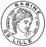 Oblitération 1er jour à Lille le 17 Décembre 1977