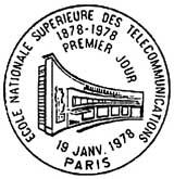 Oblitération 1er jour à Paris le 19 janvier 1978