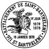 Oblitération 1er jour à Saint-Barthélemy le 19 janvier 1978
