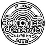 Oblitération 1er jour à Paris le 22 avril 1978