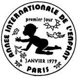 Oblitération 1er jour à Paris le 6 janvier 1979