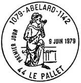 Oblitération 1er jour à Le Pallet le 9 juin 1979