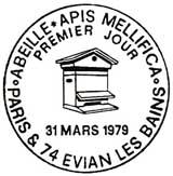 Oblitération 1er jour à Paris et Evian le 31 mars 1979