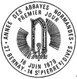 Oblitération 1er jour à Saint-Pierre-sur-Dives et Bernay le 16 juin 1979