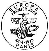 Oblitération 1er jour à Paris et Strasbourg le 28 avril 1979