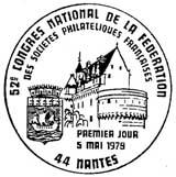 Oblitération 1er jour à Nantes le 5 mai 1979