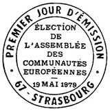 Oblitération 1er jour à Strasbourg le 19 mai 1979