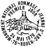 Oblitération 1er jour à Rouen le 24 mai 1979