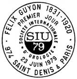 Oblitération 1er jour à Paris le 23 juin 1979