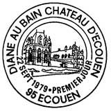 Oblitération 1er jour à Ecouen le 22 septembre 1979