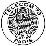 Oblitération 1er jour à Paris le 27 octobre 1979