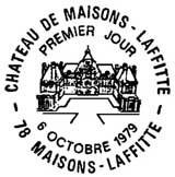 Oblitération 1er jour à Maisons-Lafitte le 6 octobre 1979