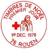 Oblitération 1er jour à Rouen le 1 décembre 1979