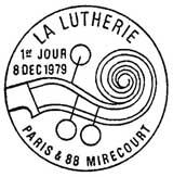 Oblitération 1er jour à Paris et Mirecourt le 8 décembre 1979