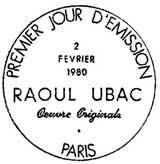 Oblitération 1er jour à Paris le 2 février 1980