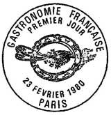 Oblitération 1er jour à Paris le 23 février 1980