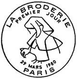 Oblitération 1er jour à Paris le 29 mars 1980