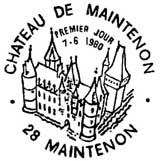Oblitération 1er jour à Maintenon le 7 juin 1980