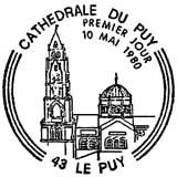 Oblitération 1er jour à Le Puy le 10 mai 1980