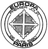 Oblitération 1er jour à Paris et Strasbourg le 26 avril 1980