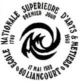 Oblitération 1er jour à Liancourt le 17 mai 1980