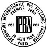 Oblitération 1er jour à Paris le 10 juin 1980