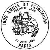 Oblitération 1er jour à Paris le 21 juin 1980