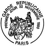 Oblitération 1er jour à Paris le 22 novembre 1980