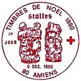 Oblitération 1er jour à Amiens le 6 décembre 1980