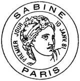 Oblitération 1er jour à Paris le 10 janvier 1981
