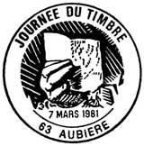 Oblitération 1er jour à Aubiere le 7 mars1981
