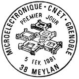Oblitération 1er jour à Meylan le 5 février 1981