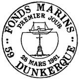 Oblitération 1er jour à Dunkerque le 28 mars 1981