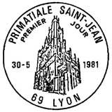Oblitération 1er jour à Lyon le 30 mai 1981