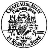 Oblitération 1er jour à Rosny-sur-Seine le 21 mars 1981