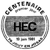 Oblitération 1er jour à Jouy-en-Josas le 19 juin 1981