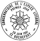 Oblitération 1er jour à Rochefort le 20 juin 1981