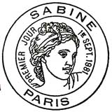 Oblitération 1er jour à Paris le 1 septembre 1981