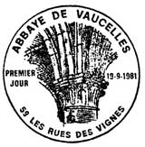Oblitération 1er jour à Vaucelles le 19 septembre 1981