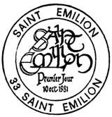 Oblitération 1er jour à Saint-Emilion le 10 octobre 1981