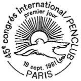 Oblitération 1er jour à Paris le 19 septembre 1981