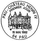 Oblitération 1er jour à Pau le 15 mai 1982