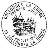Oblitération 1er jour à Collonges le 3 juillet 1982