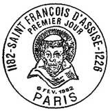 Oblitération 1er jour à Paris le 6 février 1982